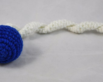 NFL Indianapolis Colts - Crochet Cat Toy - Jingle Ball Snake - Homemade Cat Toy - Unique Cat Toys - Cat Ball - Cat Toys - Crochet Balls - L2