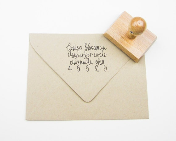 Custom Address Stamp - return address stamp - address stamp - personalized - calligraphy address stamp - hand lettered A0005