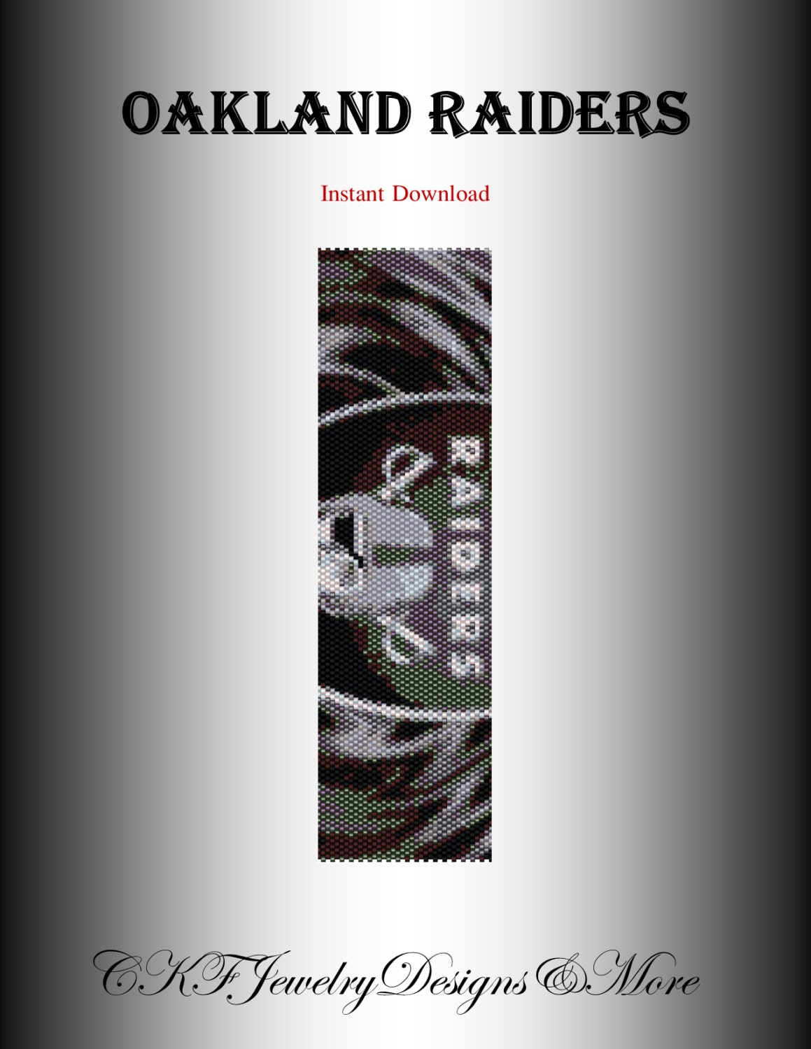 Oakland Raiders Brown Football Bracelet