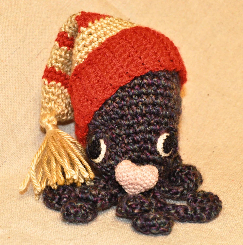 Octopus Amigurumi Plush : Miniature amigurumi octopus plushie crochet by ...