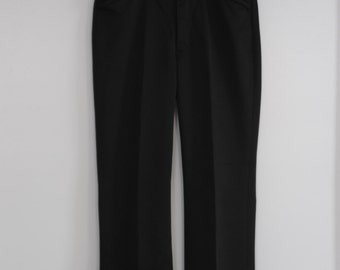 Vintage Mens Black Dress Pants by Farah