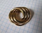 Vintage Western Germany Hallmarked Gold Tone Scarf Clip Brooch Jewellery Jewelry