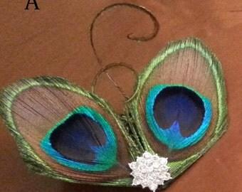 Bridal Peacock Hair clip