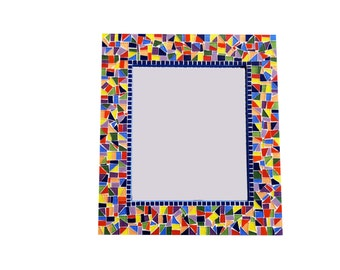 Colorful Mosaic Mirror, Rainbow Primary Colors