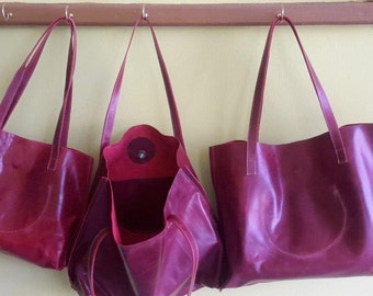 Leather tote  leather women bag, hand bag  leather purse.