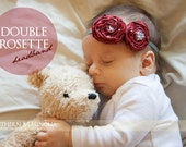 Double Rosette Headband
