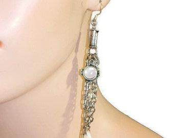 Long Chain Earrings, Costume Jewelry