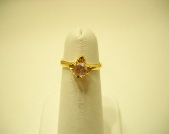 Gorgeous Adjustable Pale Amethyst Crystal Ring (097) Size 5.5