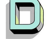 letter D , size A4 (8.27 x 11.69 inches)
