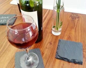 Slate Coasters - Modern, Rustic, Mancave, Home Decor, Bar, Barware