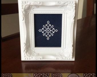 Snowflake #4 Cross Stitch PDF Pattern - Immediate Download from Etsy - Christmas Winter Series SugarStitch