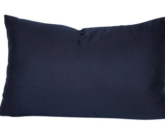Navy Blue Outdoor Pillow Cover in Sunbrella Fabric