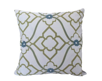Zuma Pillow Cover by Candice Olson in Blue and Green