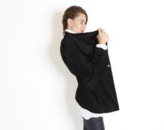 Black  women jacket- Women's tuxedo- black velvet coat- riding coat- unique coat