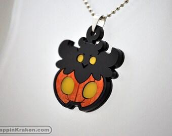 Pumpkaboo Pokemon X Y Acrylic Wood Necklace Pendant