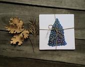 christmas greeting card christmas tree drawing Watercolor Christmas cards Holiday Greeting Card