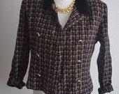 Vintage colorful 50s tweed blazer jacket Jessica Howard