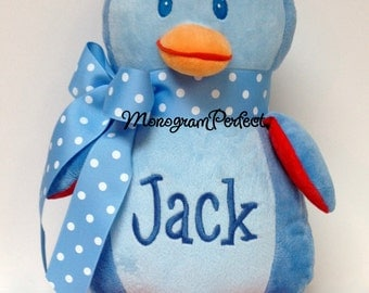 Personalized Plush Blue Penguin Soft Toy