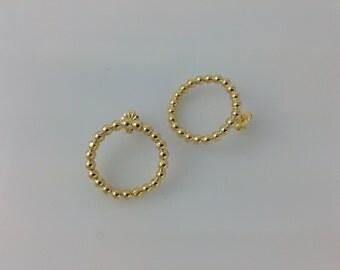 Circles-Gold Circles Earrings gold  Earrings  Circles Earrings post earring stud earrings