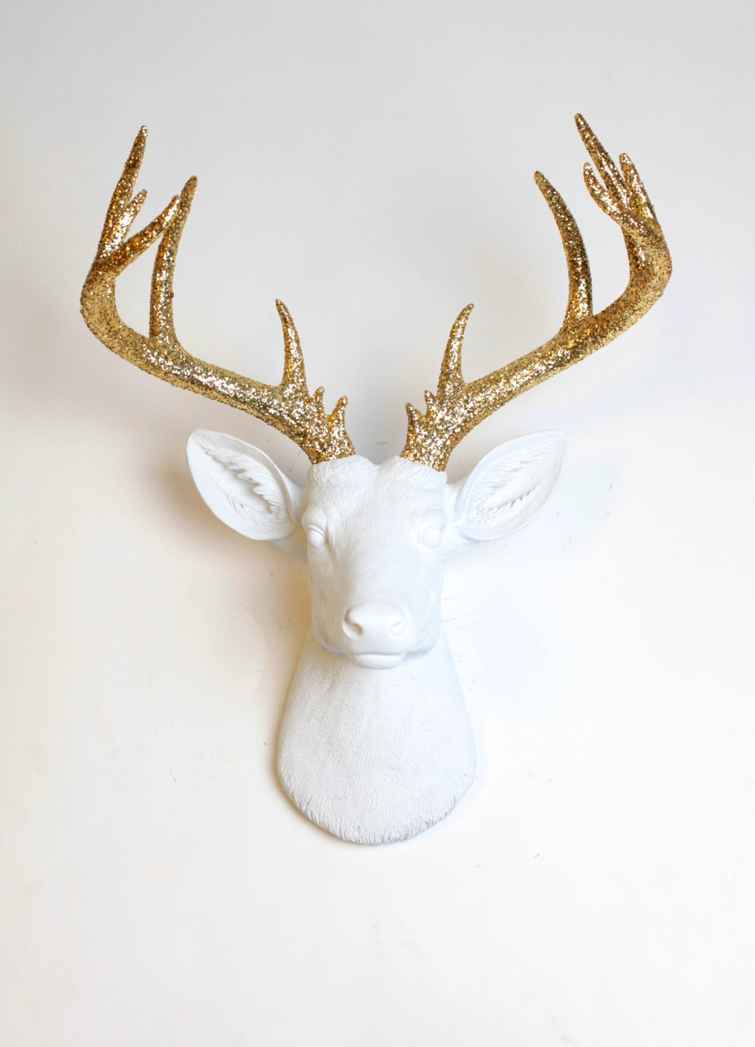 Deer head wall mount the xl winston white resin deer head - Applique murale tete de cerf ...