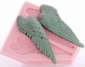 Large Angel Wing Silicone Mold Made From Food Safe Silicone Fondant Gum Paste Chocolate Craft Mold For Resin Polymer Clay Metal Clay (826)