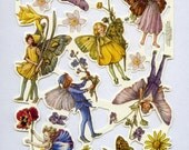 Flower Fairies SCRAP RELIEFS - Fairy Die Cuts - Die Cuts - Scrap Reliefs - Scrapbook Die Cuts - Sheet 2