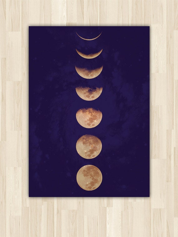 Moon Phases, Poster Art