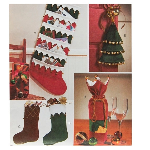 Christmas card holder sewing pattern bottle gift bag door for Door xmas card holders