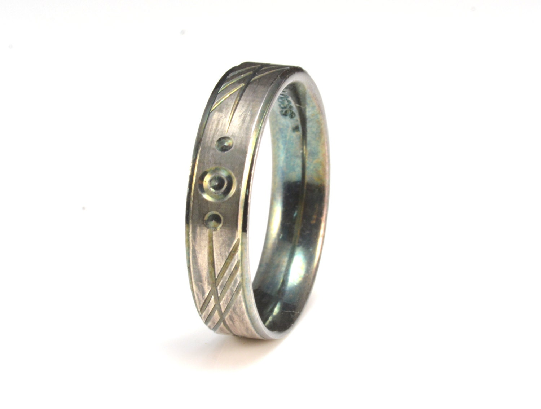 990 silver ring simple ring precious metal