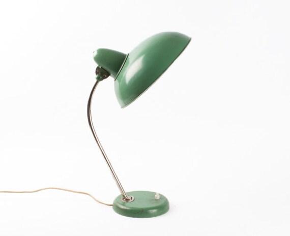 Vintage Green Desk Lamp / Office Table Lamp Light / Mid Century Lamp ...
