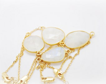 Framed Moonstone Bracelet