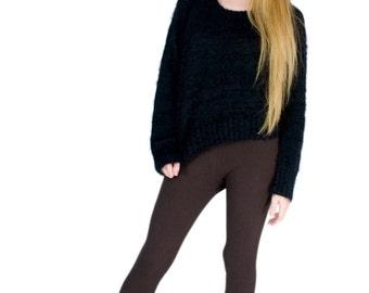 Bamboo Yoga Pants Dark Brown Organic Leggings