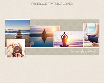Facebook Timeline Cover - Facebook Timeline Template - PSD Template - Customize Facebook Page - Instant Download - F212