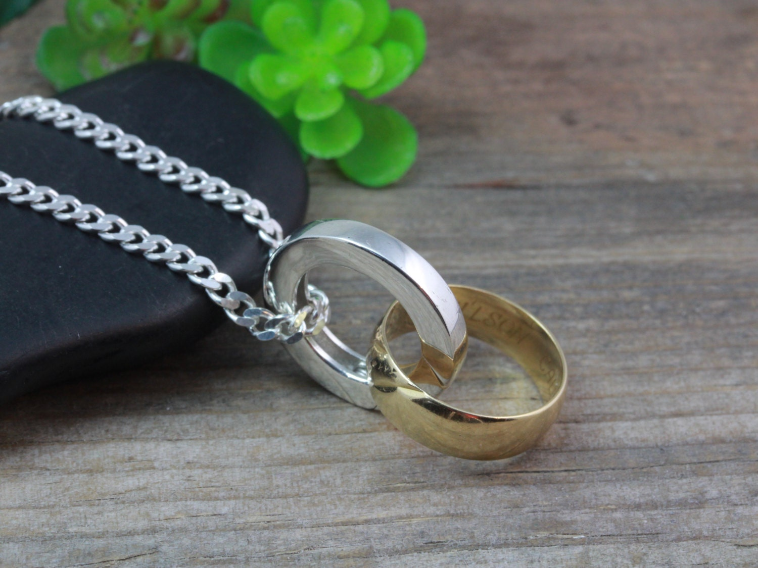 sterling silver ring holder necklace mens ring holding - Wedding Ring Necklace Holder