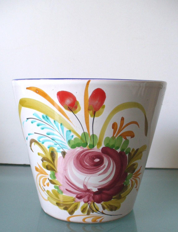 Made in italy ceramic flower pot for 6 ceramic flower pots