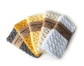 CROCHET WASHCLOTH - 100% cotton, cotton washcloth, handmade washcloth, wash cloth, stocking stuffer, hostess gift