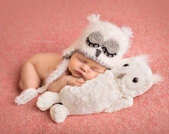 Newborn Fuzzy Owl Hat,Fuzzy Baby Owl Hat,3-6 Fuzzy Owl Hat, Toddler Owl Hat,Newborn Fuzzy Owl Hat, Newborn Owl Photo Prop, Newborn Owl Hat