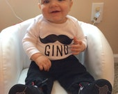 Mustache and Name Onesie - Perfect for Baby Shower Gifts or Welcome Home Baby Gifts!