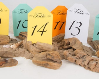 14 Driftwood Table Number Holders, Place Card Holder, Wedding Favors, Nautical Party, Photo Holder, Wedding Table Decor, Rustic, Beach Decor