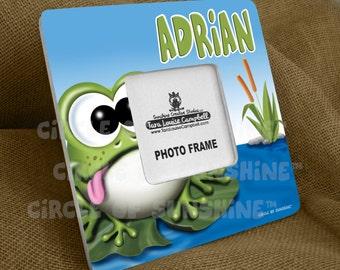 Picture Frame, Frog, Home Decor, Office Decor, School Classroom Decor