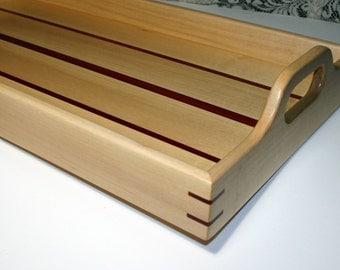 Wood Serving Tray - Handmade - Maple