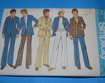 Vintage 70s Simplicity 6785 Teens-Boys and Mens Suit Sewing Pattern - UNCUT - Many Sizes Availabe