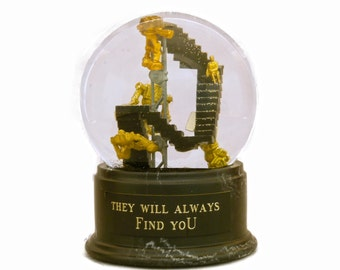They Will Always Find You -- custom snow globe / waterglobe OOAK