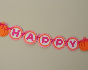 Girly Pumpkin Party Banner Pumpkin Patch Birthday Party