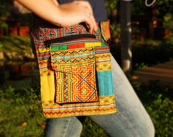 Totally Unique Handmade Vintage Hmong Hilltribe Belt Bag