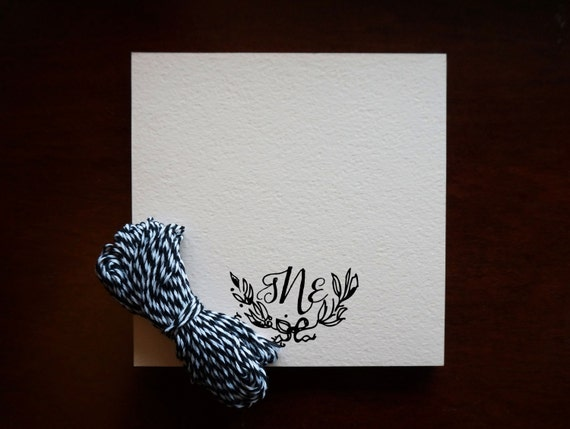 Personalized Stamps For Wedding Invitations: Monogram Stamp Wedding Personalized DIY Stationery By
