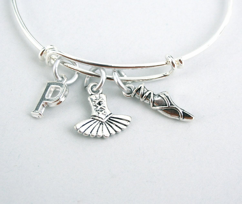 Ballet Charm Bracelet: Ballet Charm Bangle Dancer Bracelet Monogram Personalize