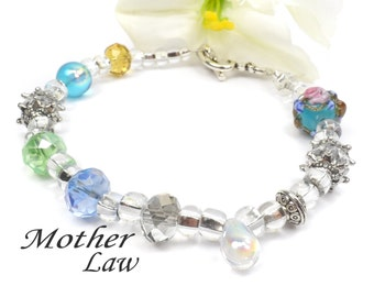 Mother in Law Poem Bracelet, Special Mothers Day Gift for Mother in Law  G102