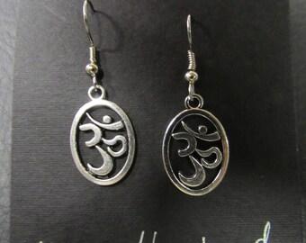 Om Earrings, Om Symbol earrings, Om Jewelry, Zen jewelry, Meditative jewelry, Om jewelry, Om, Aum earrings, Aum jewelry, Aum