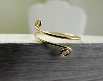 Gold Filled Thumb Ring Adjustable Ring For Women Handmade Minimalist Ring Summer Fun